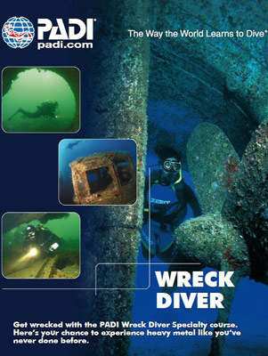 PADI Wreck Diving Brisbane